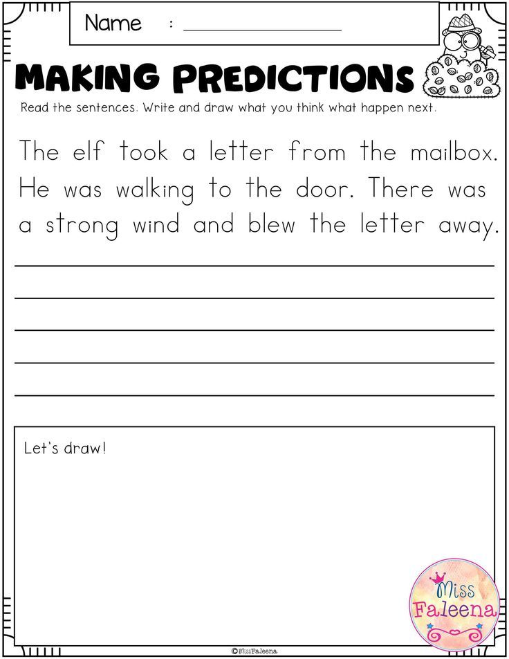 Free Making Predictions Making Predictions 1st Grade Worksheets Reading Comprehension Worksheets