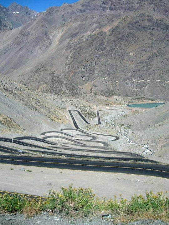 Los Caracoles Pass, Andes