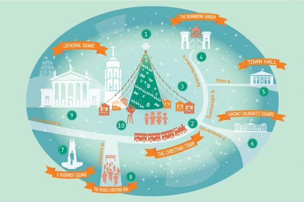 Вильнюс подготовил для горожан и гостей цикл мероприятий «Рождество в столице». В программе праздника Рождества в Вильнюсе рождественский поезд, сказка в 3D-проекции, сквер рождественского дизайна и многое другое.