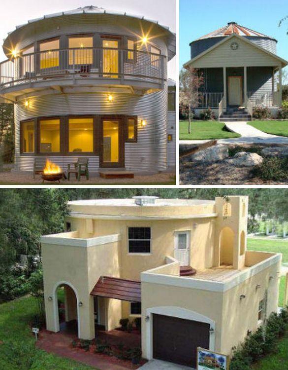 Grain Silos as houses: Silo Houses, Beautiful Houses, Tiny Houses, Community Ideas, Bins Houses, Recycled Grains, Guest Houses, Grains Silo, Grains Bins
