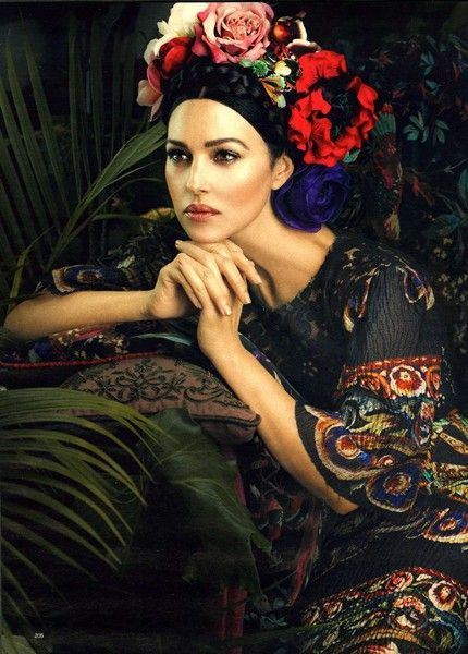 Loving the make up and styling for this shoot with Monica Bellucci for Dolce & Gabbana Photography by Signe Vilstrup