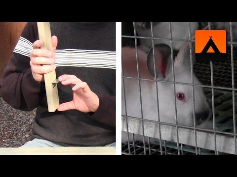 How to make a frame kit for a rabbit cage - improved design - YouTube