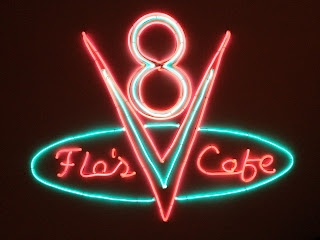 Neon like sign, Made from EL Wires and Posterboard