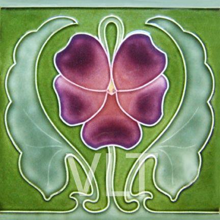 Art Nouveau Reproduction Tile #85, from Villa Lagoon Tile