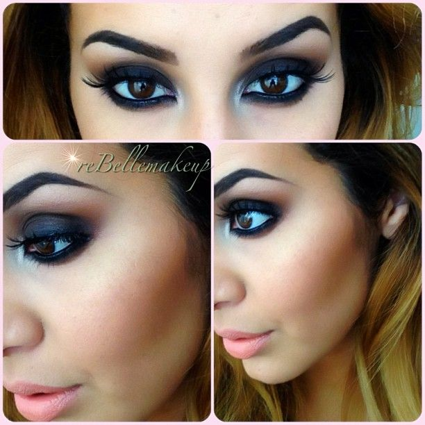 .@rebellemakeup | My go-to colors from Mac: Embark, Brown Script, and Vanilla mixed w/ a touch... | Webstagram