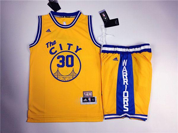 ADIDAS NBA HARDWOOD CLASSICS CURRY GOLDEN WARRIORS THE CITY 30 BASKETBALL JERSEY $ 69