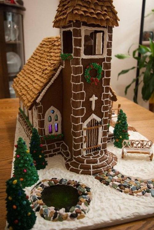 Gingerbread Church House Designs on church cakes, church family house, church snow, church autumn, church candy, church cupcakes, church country gingerbread recipe,