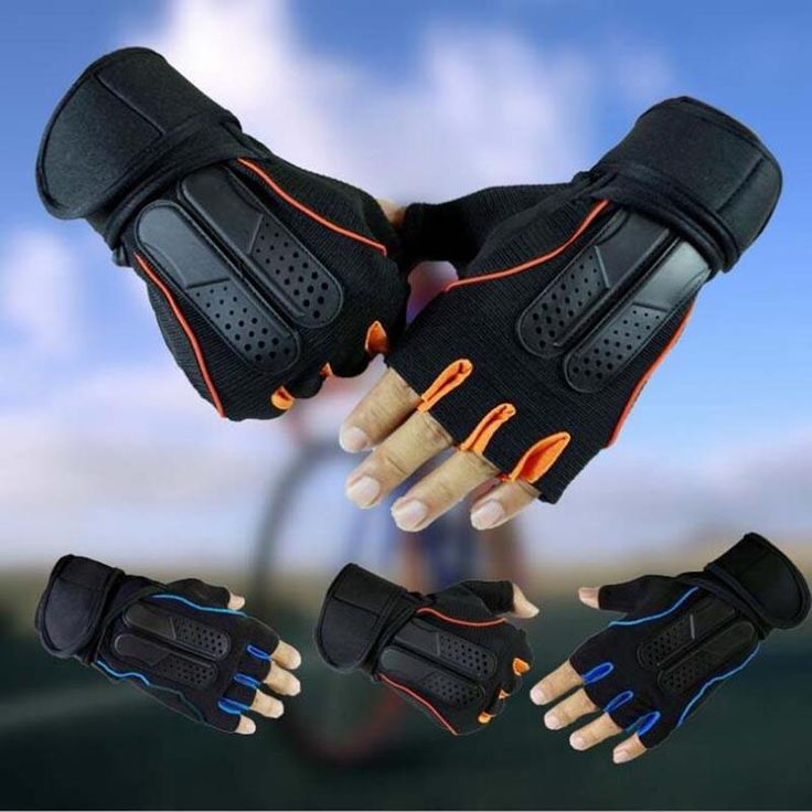 Men Weight Lifting Gloves Gym Fitness Workout Training Non-slip Cycling Sport Exercise Half Gloves