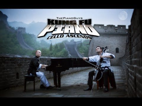 Kung Fu Piano: Cello Ascends - ThePianoGuys - YouTube - they played this at their portland concert :)