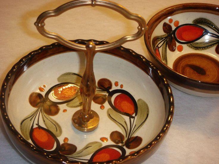 Vintage Schalen - Anbieteschalen,Retro,orange braun - ein Designerstück von oldtimes bei DaWanda