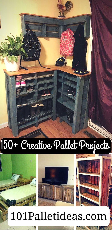 150+ Wonderful Pallet Furniture Ideas | 101 Pallet Ideas - Part 11