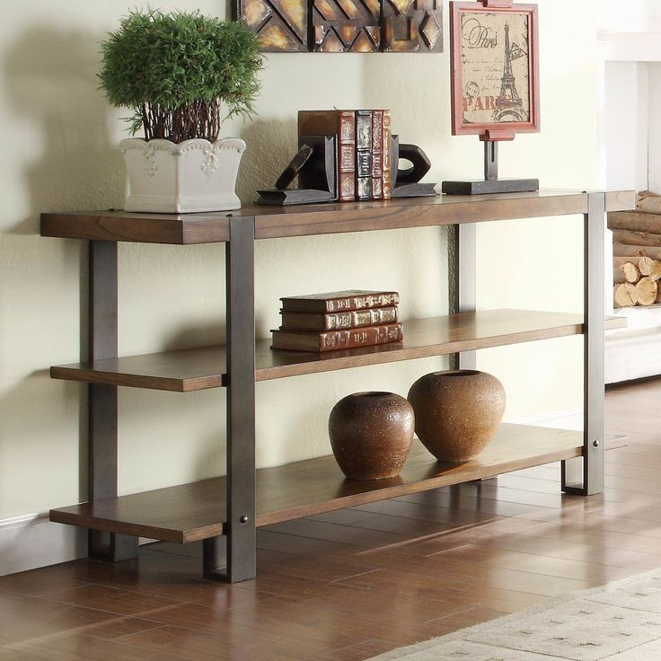 Inspirational Coaster Storage Entry Way Console Table