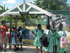Bajan children immaculate in their school uniforms!