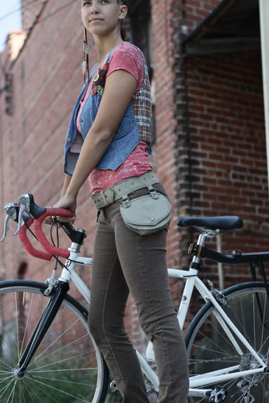 Hipster Bike  Cycling Gear by stashpack on Etsy, $120.00