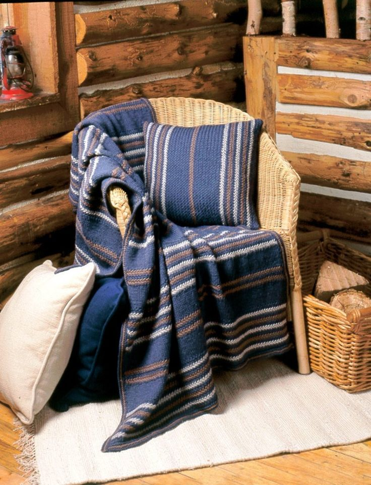 Woven-Look Afghan & Pillow in Patons Classic Wool Worsted. Discover more Patterns by Patons at LoveKnitting. The world's largest range of knitting supplies - we stock patterns, yarn, needles and books from all of your favorite brands.