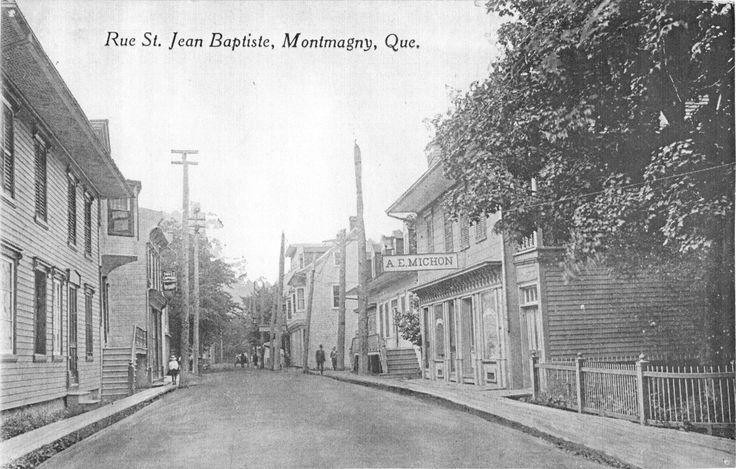 Le cœur de Saint-Thomas | La rue Saint-Jean-Baptiste, à peu de choses près, telle que l'a connue la famille Taché. À droite la pharmacie Michon. © Collection Société d'histoire de Montmagny