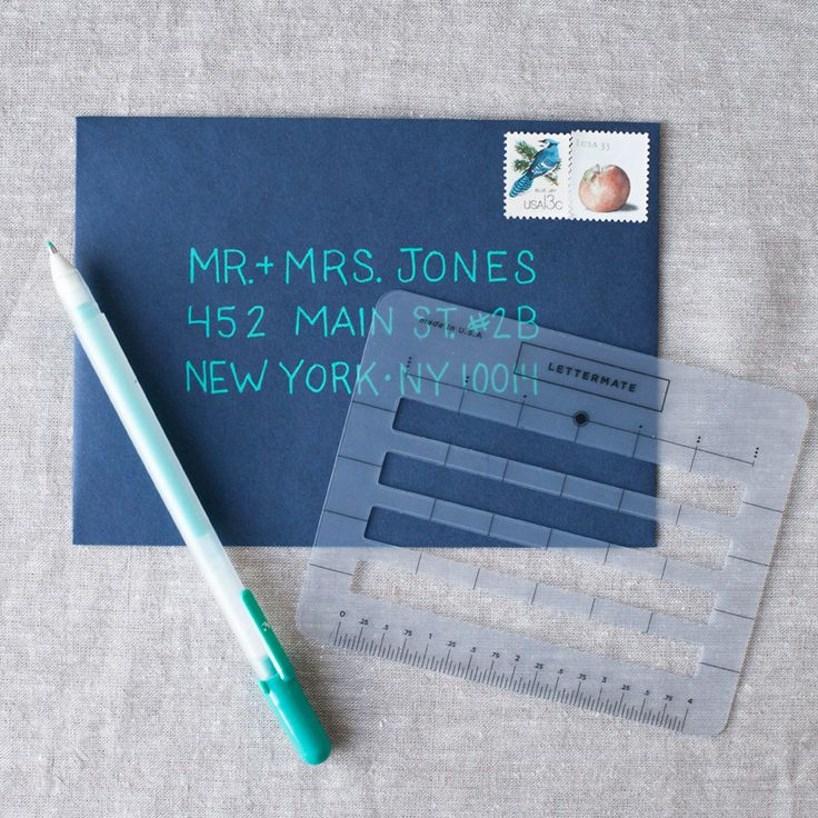 I love the Lettermate and I know you will too! This handy dandy small plastic guide will help you get the most beautiful and straight lines when you are addressing your cards and invitations! Fits a w