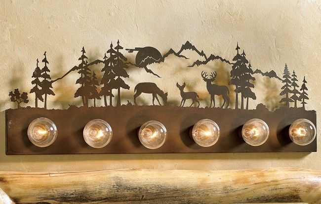 Deer Bathroom Vanity Lights : 166 best images about Future Home on Pinterest Hunting cabin, Logs and The oaks