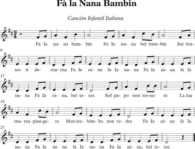 Fà la Nana Bambin. Canción Italiana Infantil.