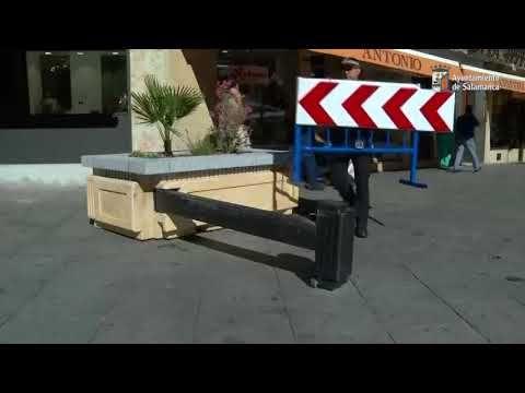 Diseños urbanos. Maceteros con vallas de seguridad en Salamanca