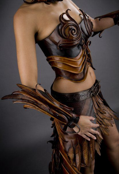 The swirls and leather feathers are lovely.