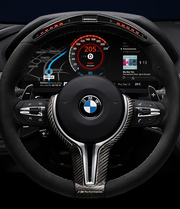 BMW Car Dashboard Design by Denys Nevozhai, via Behance
