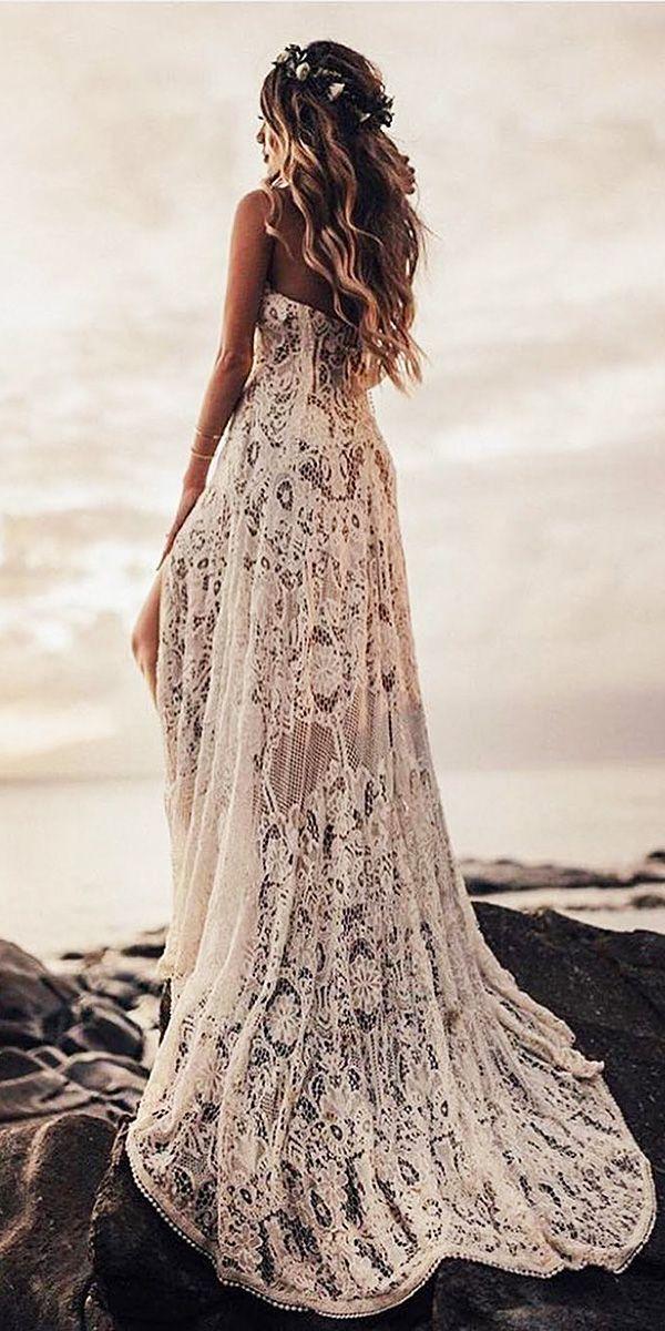 Sparkly Bohemian Rue De Seine Wedding Dresses ❤ rue de seine wedding dresses sheath full lace embellishment beach ❤ See more: http://www.weddingforward.com/rue-de-seine-wedding-dresses/ #weddingforward #wedding #bride