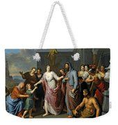 Olympia Presenting The Young Alexander The Great To Aristotle Weekender Tote Bag