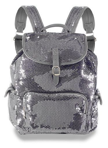Faux Leather Pewter Sequin Backpack! Bling!!! #Unbranded #Backpack