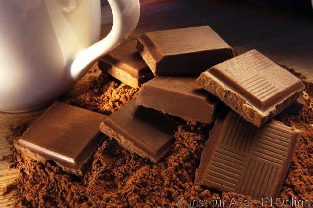 Milchschokolade, Milchkanne, Tafel, Stücke