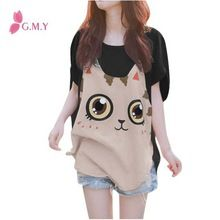 High Fashion Batwing Sleeve Cartoon Pullover Womens Plus  best seller follow this link http://shopingayo.space