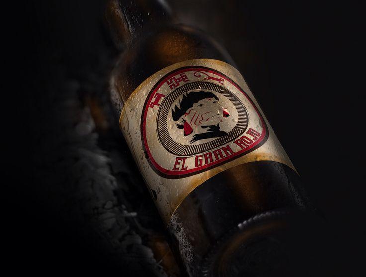 El gran rojo, diseño y campaña de cerveza ficticia para materia de publicidad y propaganda