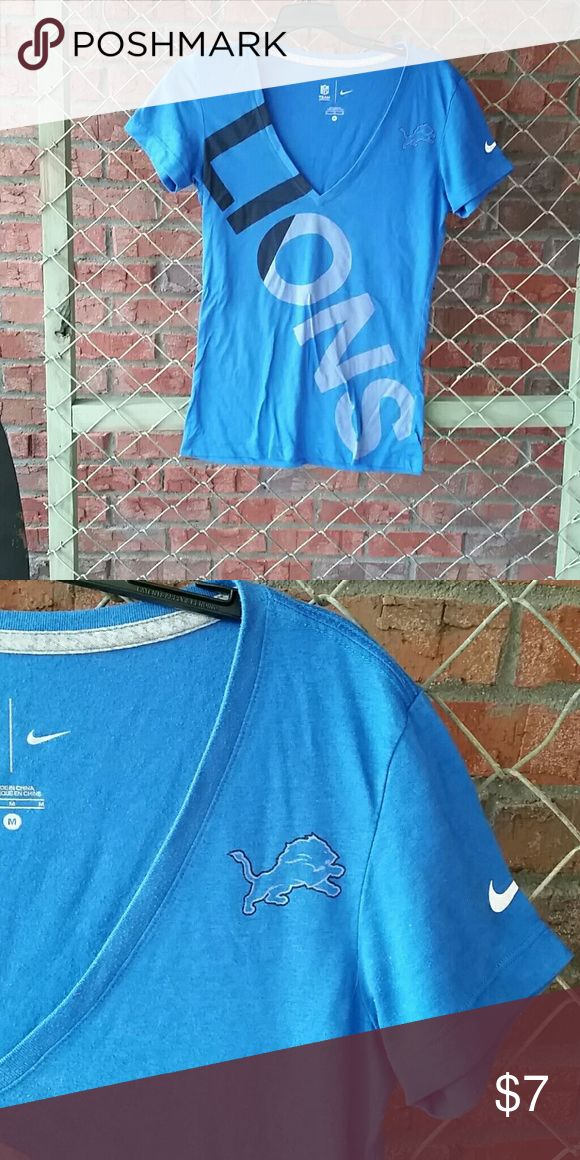 Ladies Nike Detroit Lion size medium top Ladies NFL team apparel Nike size medium Detroit Lions short sleeve shirt NFL  Tops Tees - Short Sleeve