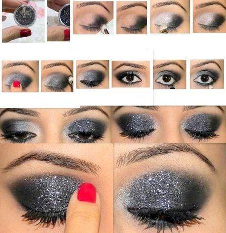 Beautiful smoky glitter eye look #eyes #eyeshadow - - See more eye looks at bellashoot.com!