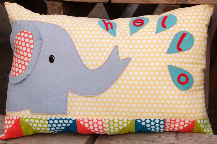 Free pattern for cute Elephant Cushion @ The Eternal Maker