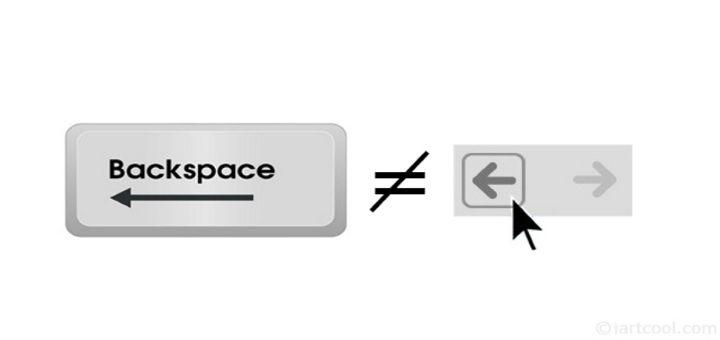 Google Chrome backspace shortcut key to go back disabled