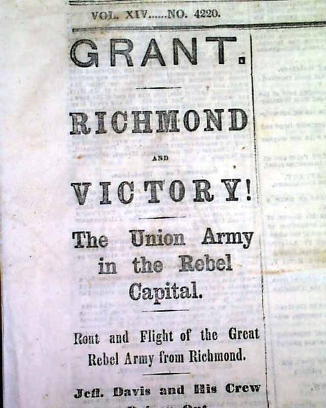 an analysis of civil war ended in 1865 Five days after the civil war ended, president abraham lincoln was shot he died on april 15, 1865, and vice president andrew johnson assumed the presidency the task of reuniting the nation fell on his shoulders.