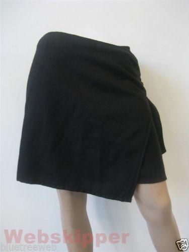 Gonna a portafoglio skirt Al Duca d'Aosta lana nera | eBay
