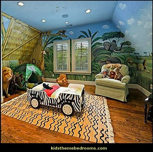 Safari Themed Toddler Bed | Safari Jeep Bed Toddler Bedroom Decorating  Safari Jungle Theme