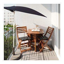 IKEA - FLISÖ, Sonnenschirm, Sehr guter UV-Schutz durch Ultraviolett-Schutzfaktor (UPF) 25+; d. h. der Stoff blockiert mind. 96% der ultravioletten Strahlen.Der verstellbare Sonnenschirm lässt sich in der Höhe perfekt dem Sitzplatz anpassen.Der Sonnenschirm kann flach an die Wand oder an das Balkongeländer gestellt werden - besonders praktisch bei wenig Platz.