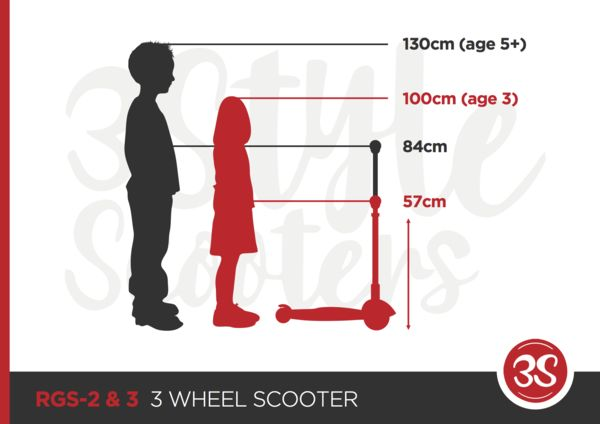 Height guidance for RGS-2 & RGS-3 Scooters