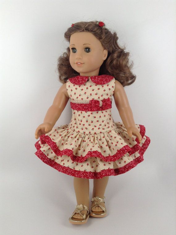 American Girl 18inch Doll Clothes Red Heart by HFDollBoutique