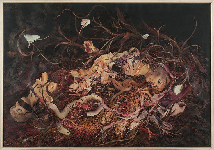 """III Nagroda_Konrad Maciejewicz, Bez tytułu c cyklu Afrodit, fot. Jacek Rojkowski 41. Biennale Malarstwa """"Bielska Jesień 2013"""". http://artimperium.pl/wiadomosci/pokaz/81,surrealistyczna-i-barokowa-bielska-jesien-2013#.Un5IRflWySo"""