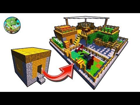 How to Transform a Minecraft Village House - YouTube