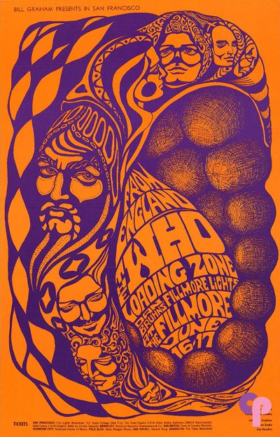 Who at Fillmore Auditorium 6/16-17/67 by Bonnie MacLean