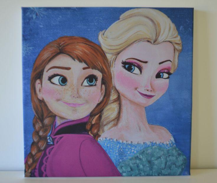 12X12 Frozen Canvas Print of my original Frozen by FlorasShop, $27.00