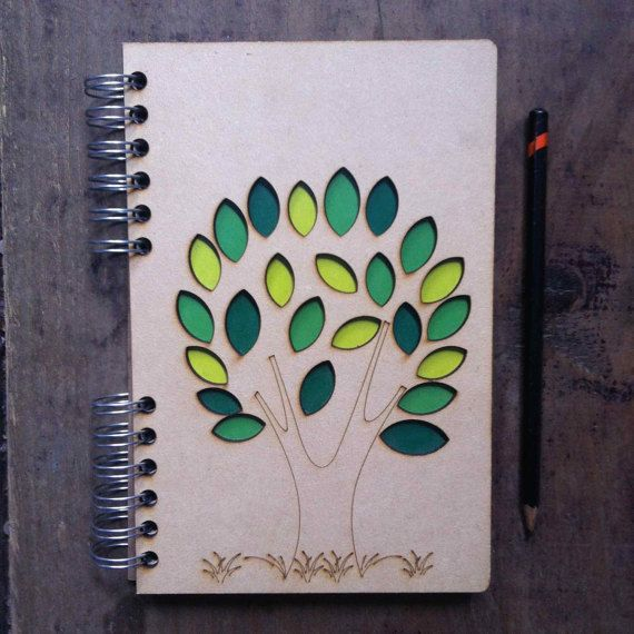 A5 recycled notebook tree