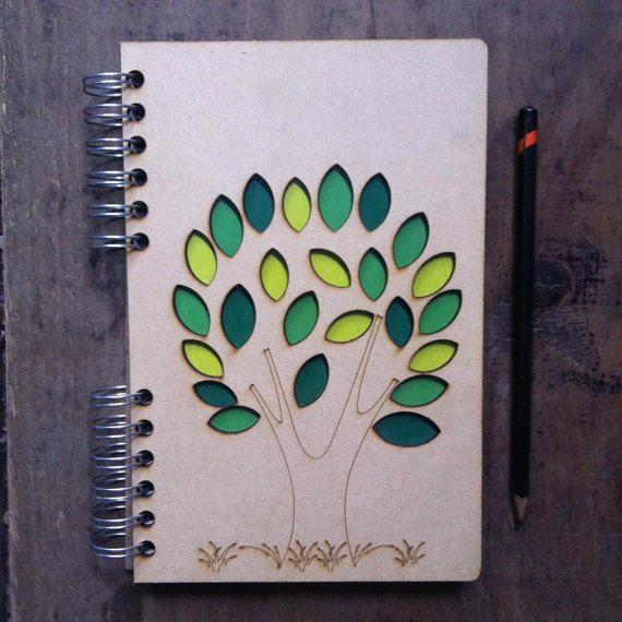Árbol de reciclado Cuaderno A5. por ADRGB en Etsy