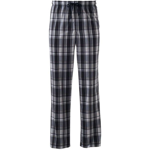 Big & Tall Croft & Barrow® True Comfort Stretch Lounge Pants ($25) ❤ liked on Polyvore featuring men's fashion, men's clothing, men's activewear, men's activewear pants, black, mens activewear pants and mens big and tall activewear