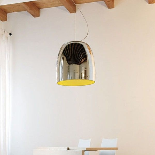 Simple but beautiful pendant #light with Chrome or brushed nickel plate metallic structure #lighting #design